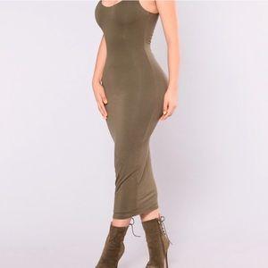 FASHION NOVA   Green Long Dress